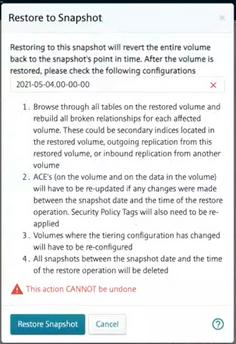 Figure 2  Protections when restoring  snapshots