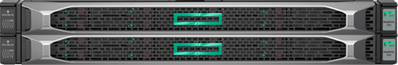Two HPE SimpliVity 325 nodes occupy 2U rack space