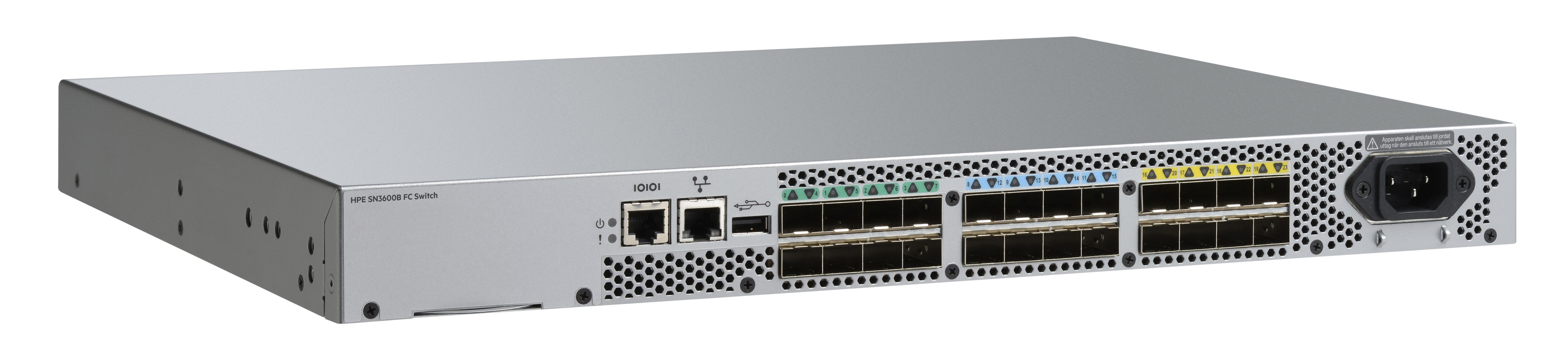 HPE B-series SN3600B FC switch