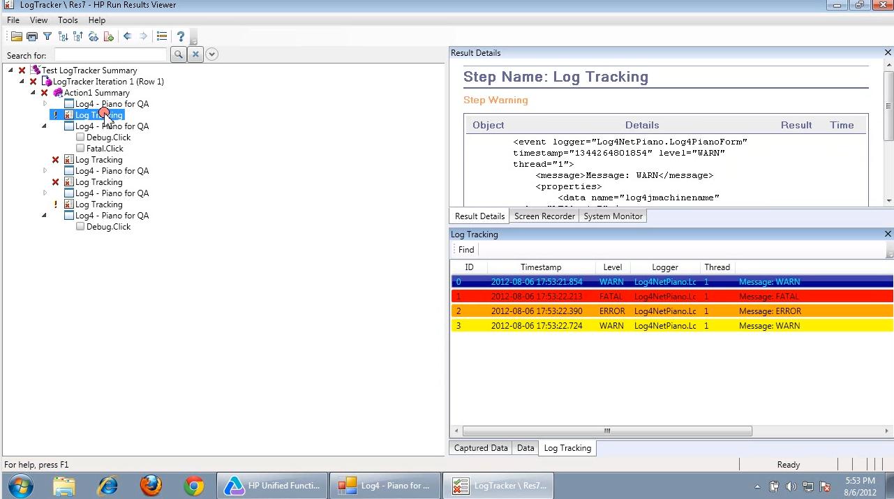 UFT: new log tracking
