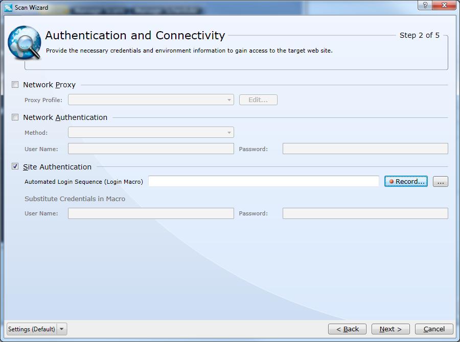 Configure Site Authentication