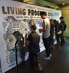 Visitors add their mark to the LPC ideas
