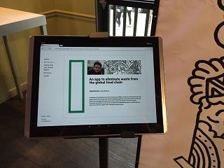 Visitors could learn more about the ideas and the people who submitted them