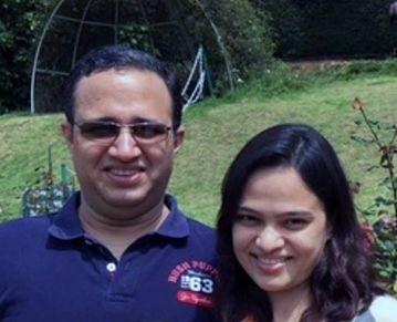 Mrinal and her husband - Pramod