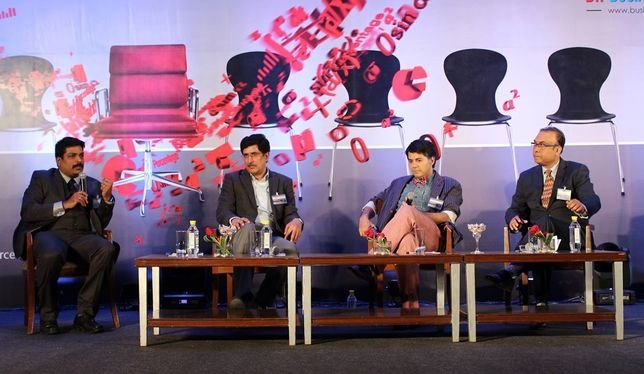 """Panel discussion with industry leading HR Leaders, including Ramendrajit Sen -VP HR, HPE India,  on the """"Role of culture in creating differentiated learning organizations"""""""