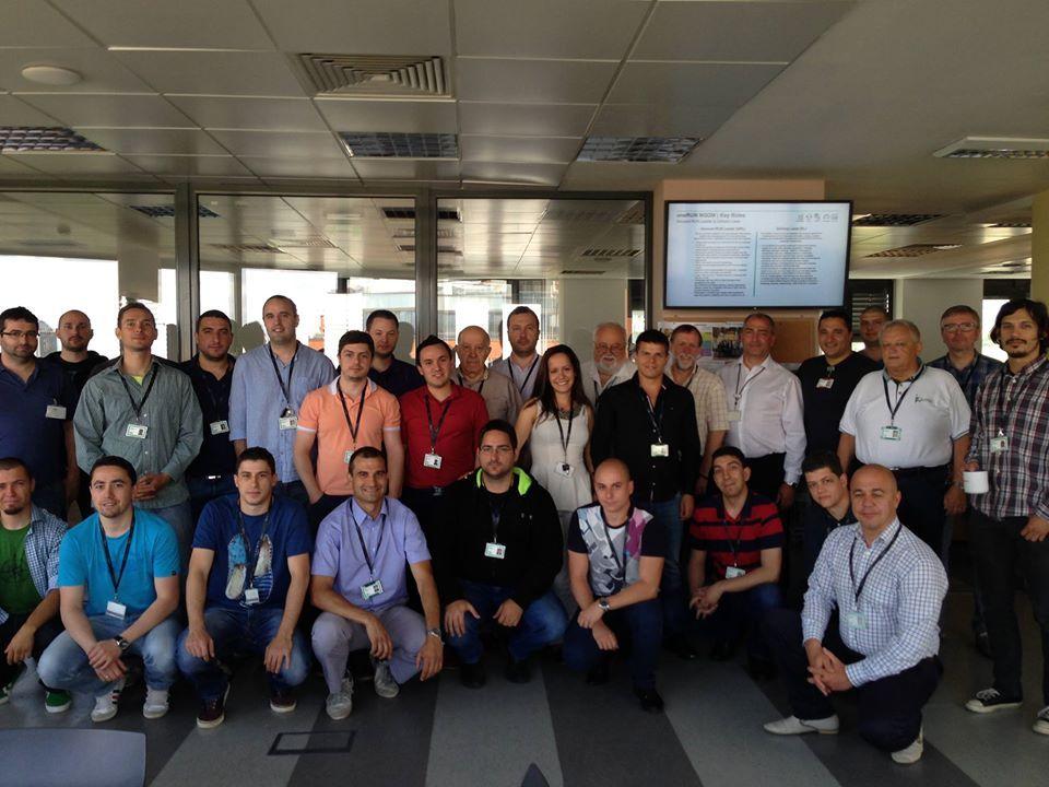 Svetlin's team in the office