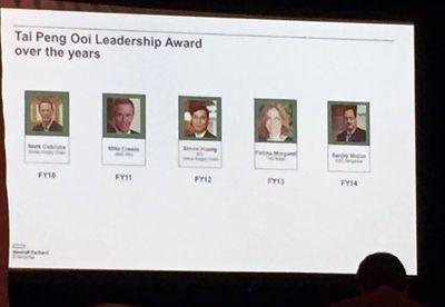 Tai Peng Ooi Leadership Award for Fiscal Year 2014