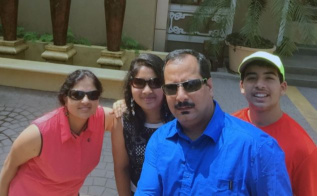 Sanjay's family picture