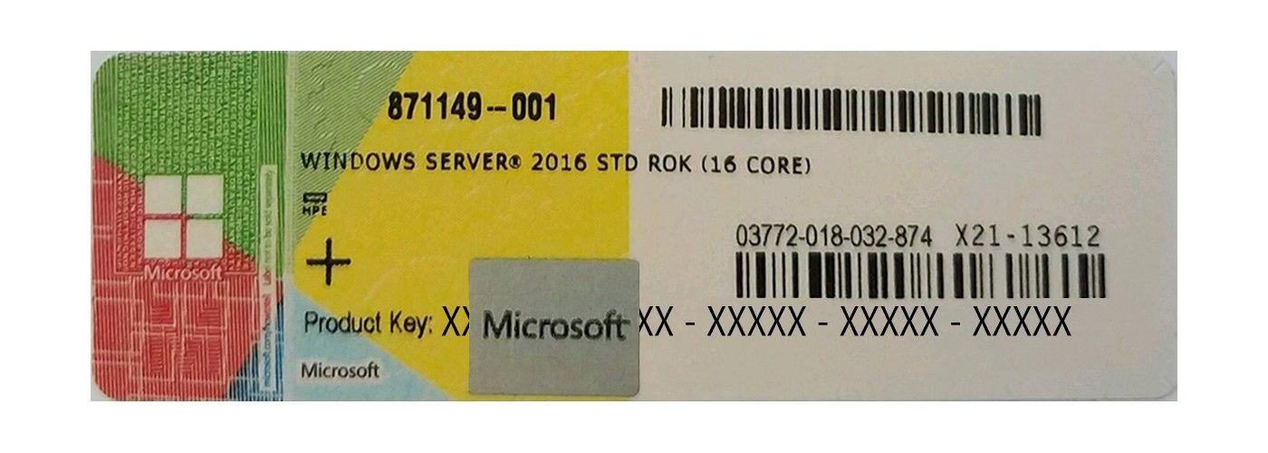 HPE Windows Server 2016 Standard ROK COA