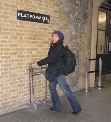 Silvia at Platform 9 ¾