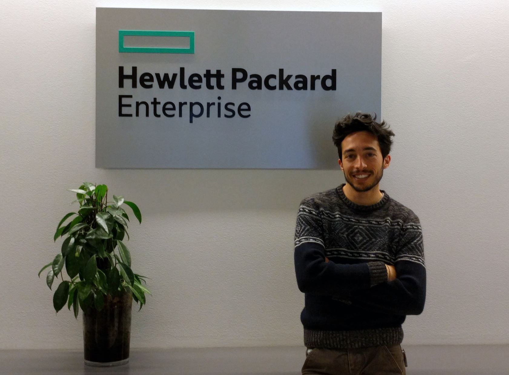 Andrea at the HPE offices