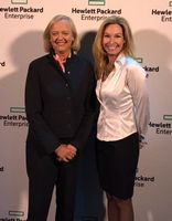 Meg Whitman, HPE President and Chief Executive Officer, and Alyssa Fitzpatrick, Microsoft General Manager