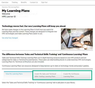 My Learning Plans