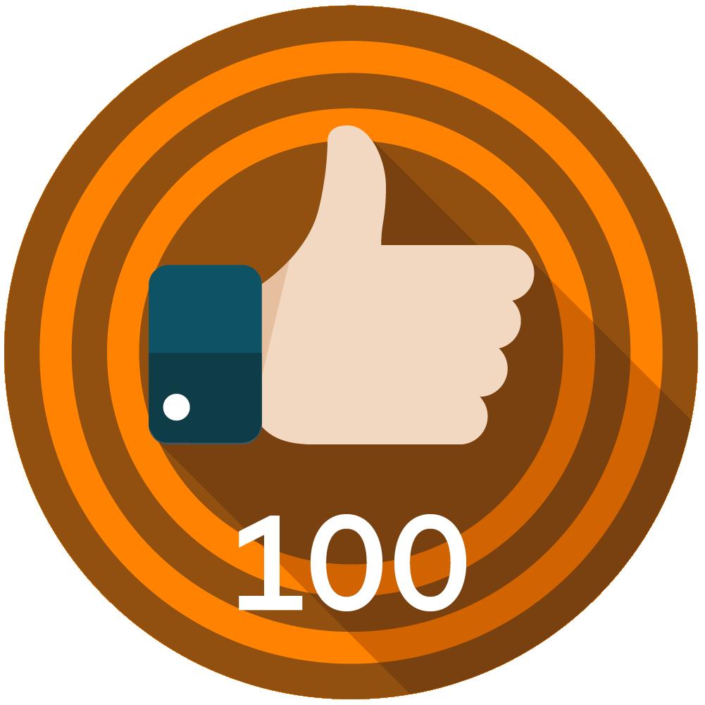 100 Kudos Given