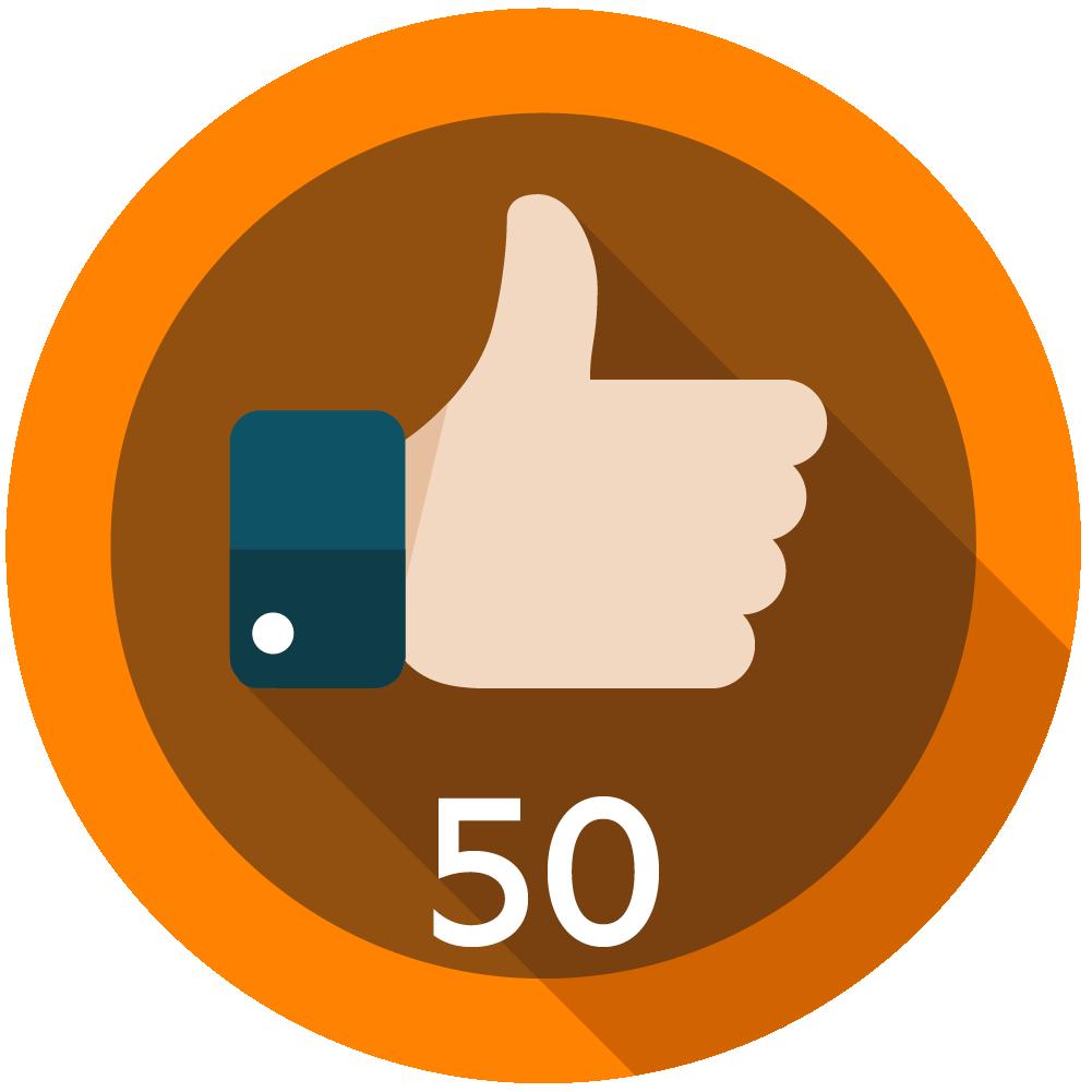 50 Kudos Given