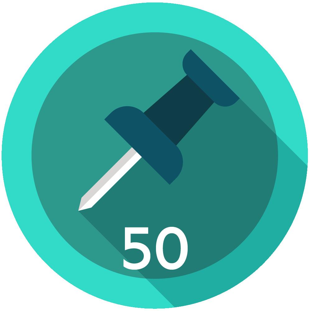50 Posts Made