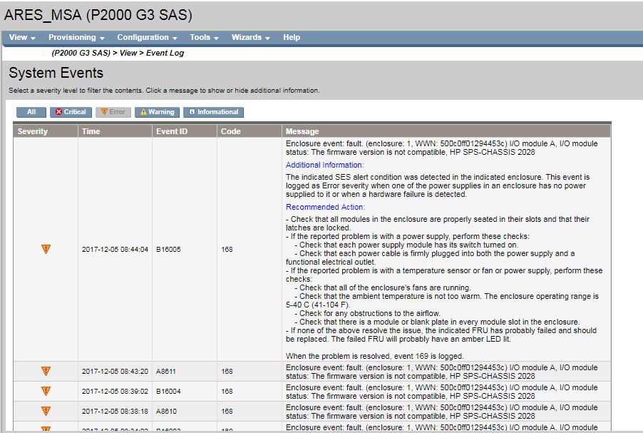 MSA Storage topics