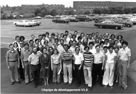VMS 1.0 octobre 1977 - l'équipe de développement Digital
