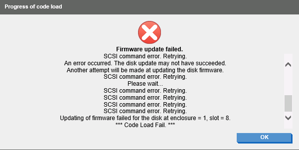 MSA P2000 iSCSI volume is not initialized (not in