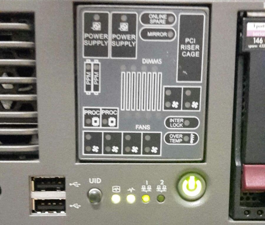 HP ProLiant DL380 G5 Server: is the power supply r