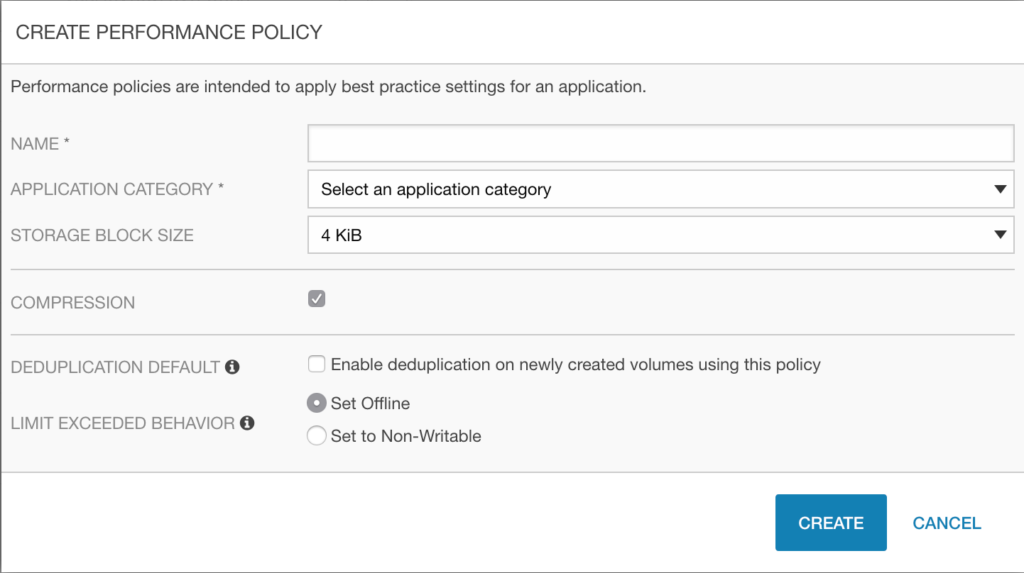 HPE Nimble Storage Performance Policies