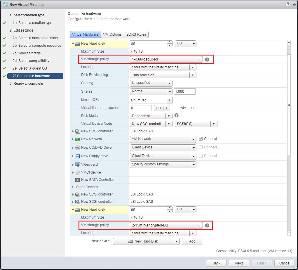 Figure 4: Customizing VM hardware