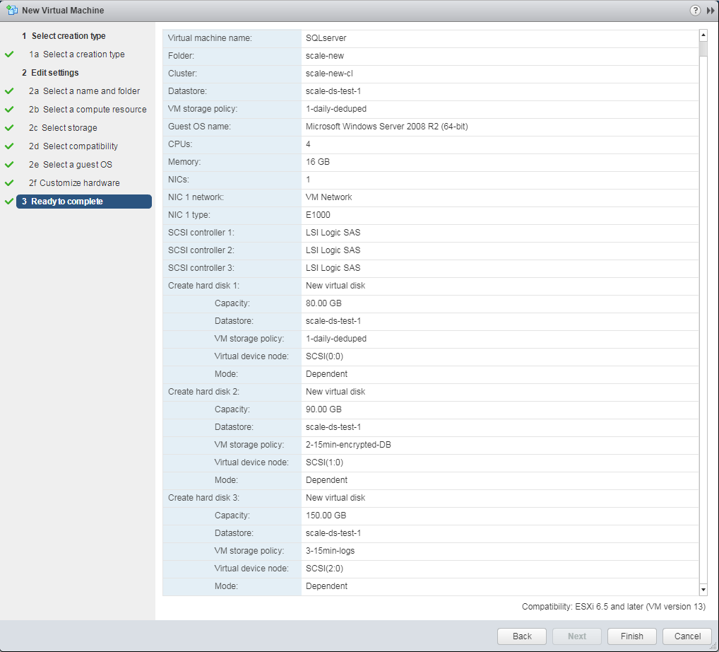 Figure 5: All config on the VM