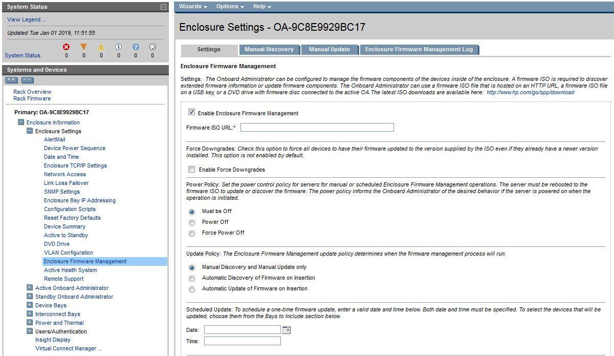 C7000 Enclosure - factory Reset - OA Admin account ...