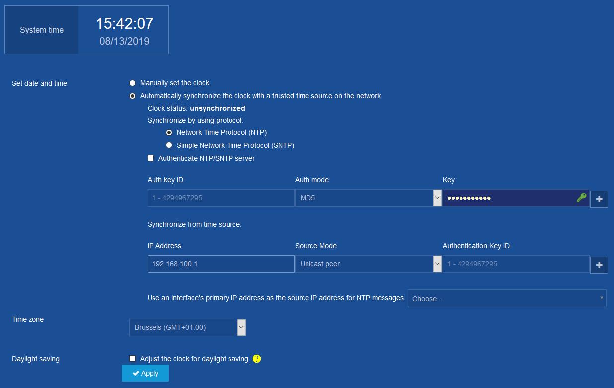NTP problem with a JG963A - Hewlett Packard Enterprise Community