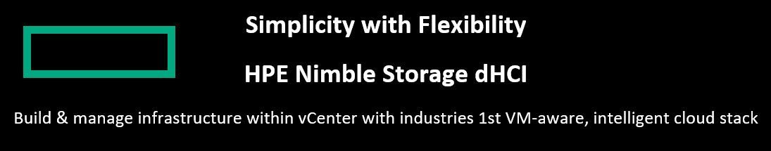 HPE Nimble Storage dHCI demo station