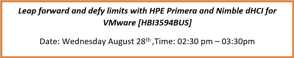 breakout session - HPE Storage