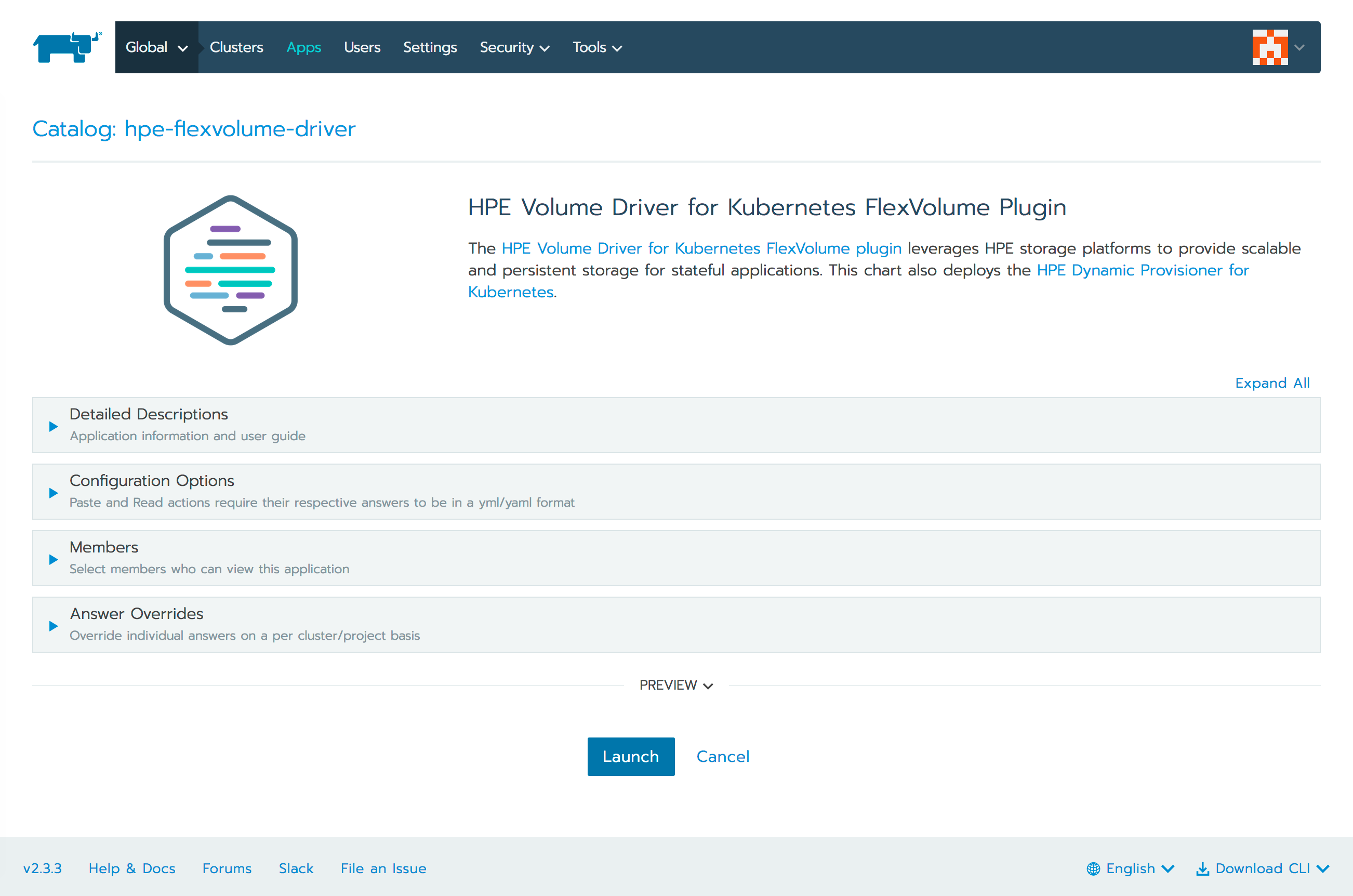 Install the HPE Volume Driver for Kubernetes FlexVolume Plugin