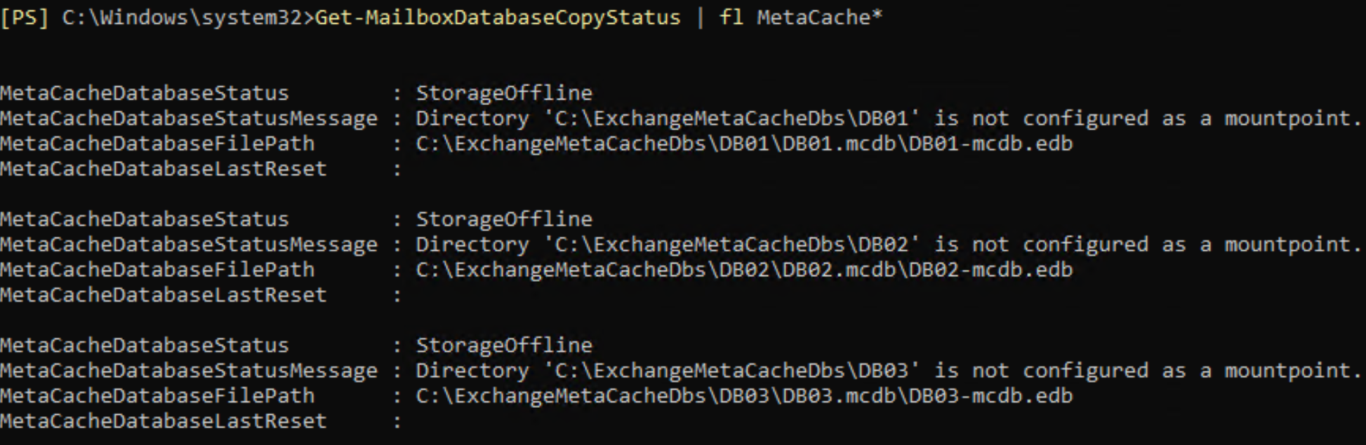 MCDB creation -storage offline.png