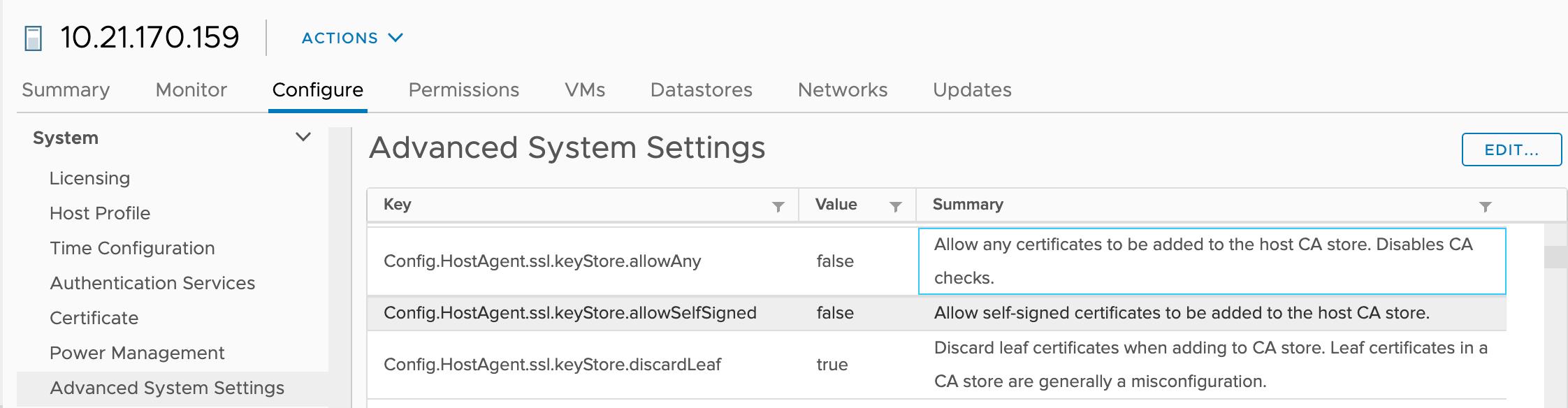 Figure 5: Config.HostAgent.ssl.keyStore.allowSelfSignedFigure 5: Config.HostAgent.ssl.keyStore.allowSelfSigned