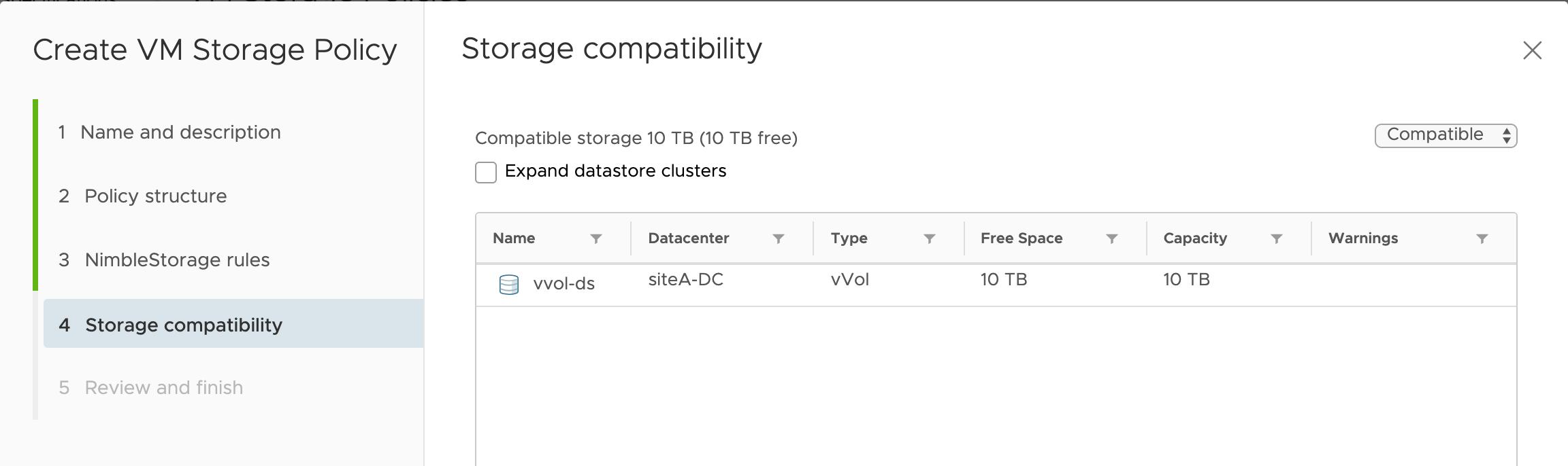 Figure 29: Storage compatibility