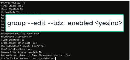 Enabling TDZ within the Nimble CLI