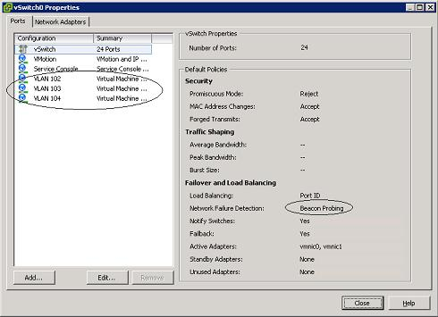 VMware ESX physical NIC control on VC Active/Passi