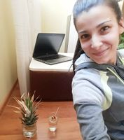 Milena Blagoeva and her home office