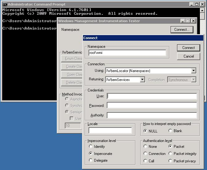 Application Event Error 'select * from hp_mcsystem
