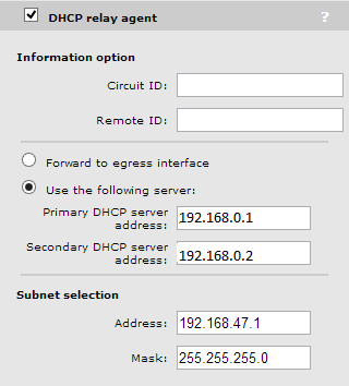 subnet selection