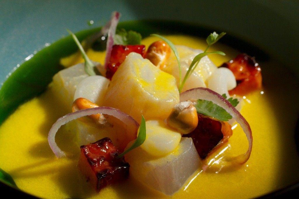 Peruvian-Japanese-Catalan inspired dish at Pakta restaurant