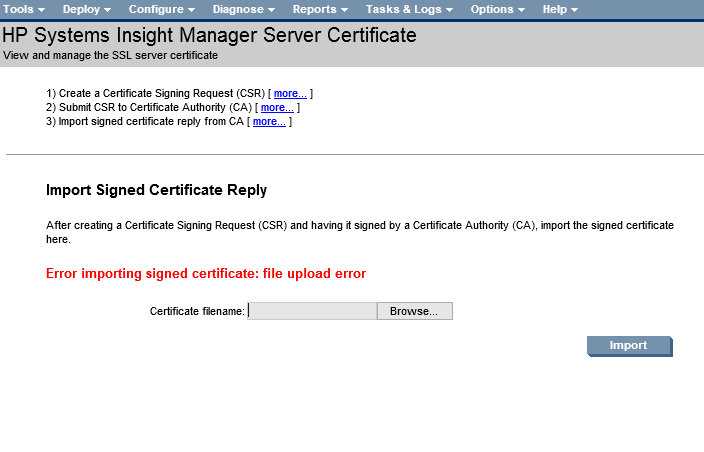 system management homepage
