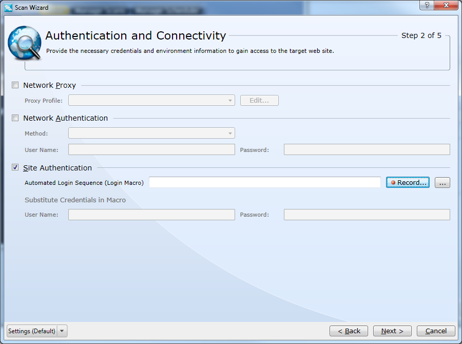 Configure Site Authentication