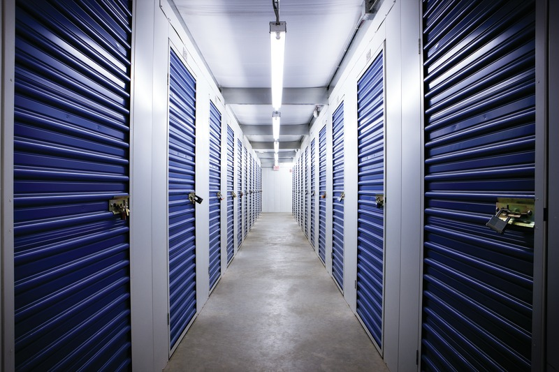 Hallway of storage unit door