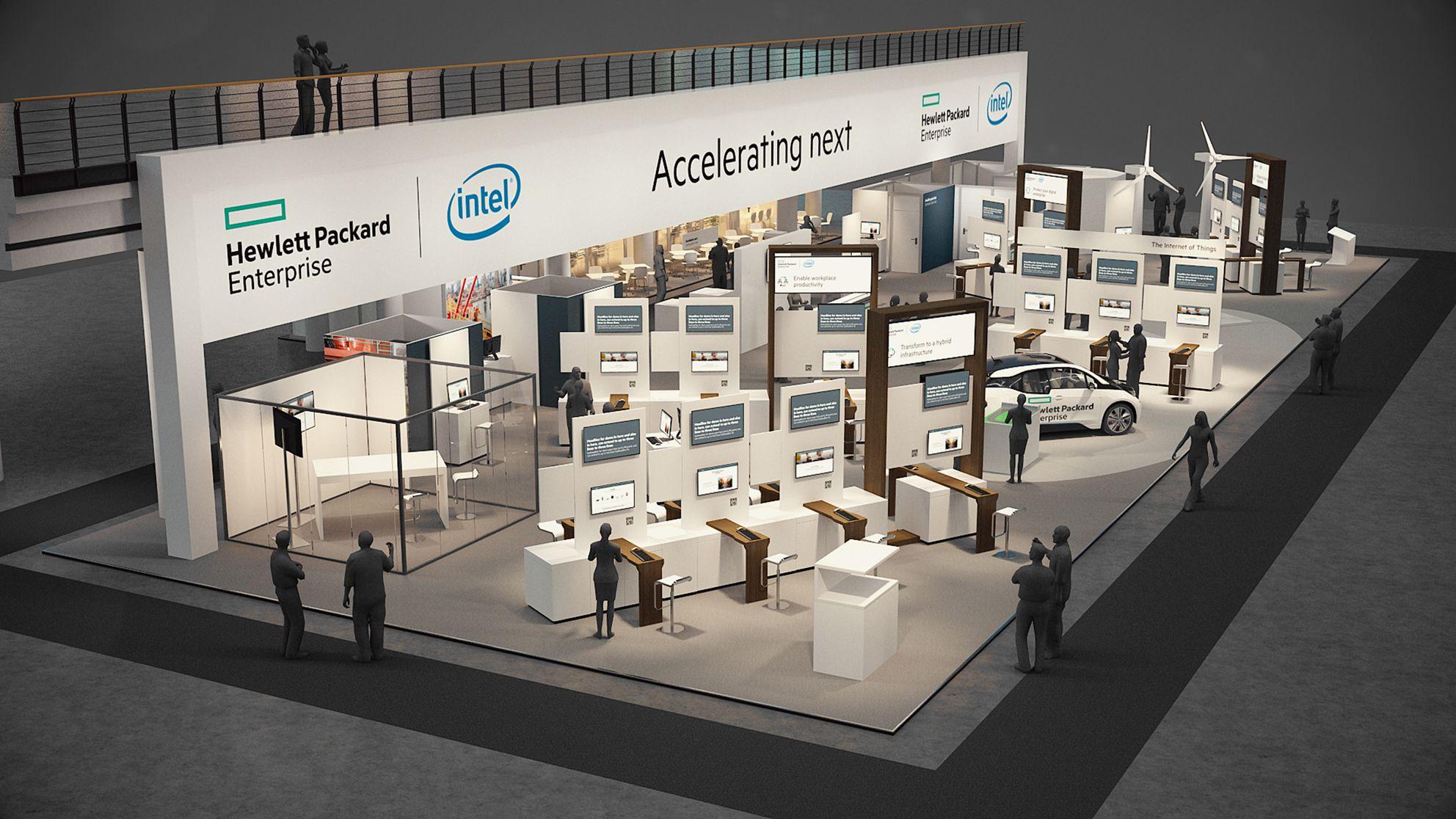 Hewlett Packard Enterprise auf der CeBIT 2016, Halle 4, Stand B04
