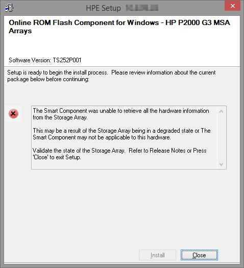 P2000 G3 Controller firmware upgrade fail - Hewlett Packard