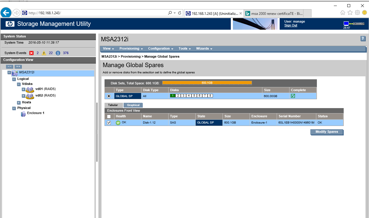 Hewlett packard enterprise community msa2312i web interface not 2g xflitez Choice Image