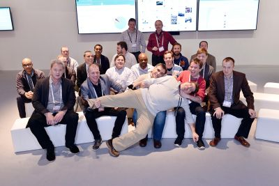 calvin with bloggers HPE Discover.jpg