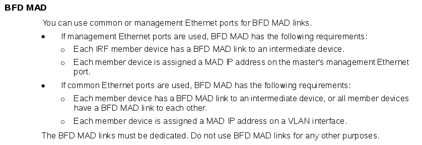 MAD_Mechanisms_BFD_MAD_on_HPE_FlexNetwork_5510_HI_Switch_Series_IRF_Configuration_Guide.png