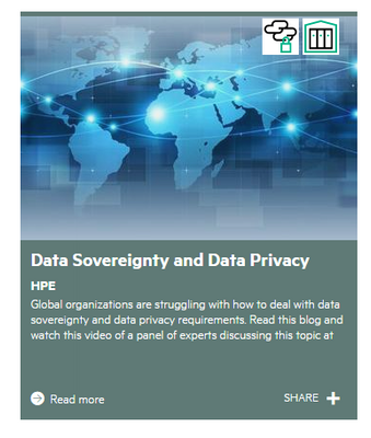 HPE Data Sovereignty and Data Privacy
